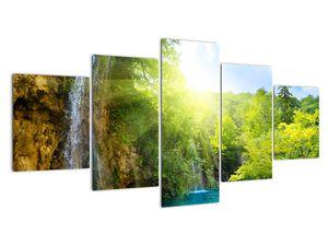 Obraz - vodopády v pralese (V020549V150805PCS)