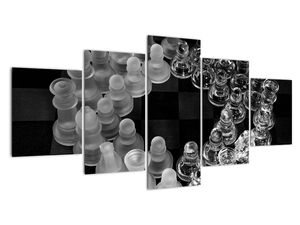 Obraz - černobílé šachy (V020598V150805PCS)