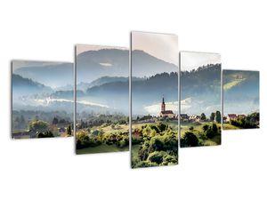 Obraz - vesnička v mlze (V020616V150805PCS)