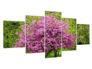 Obraz rozkvetlého stromu na louce (V020654V150805PCS)