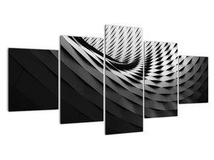 Abstraktní obraz - černobílá spirála (V020667V150805PCS)