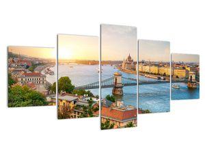 Obraz města Budapešť s řekou (V020712V150805PCS)