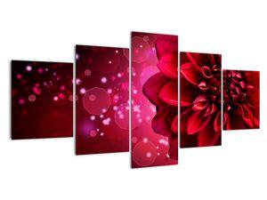 Obraz červené kvety (V020807V150805PCS)