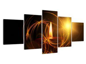 Tablou cu lumânare (V020812V150805PCS)