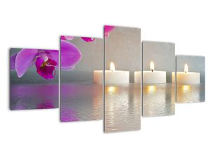 Obraz svíček na vodě (V020817V150805PCS)