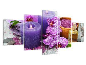 Obraz orchideí a svíček (V020894V150805PCS)