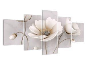 Fehér virágok képe (V020898V150805PCS)