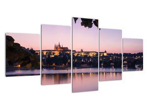 Obraz Pražského hradu a Vltavy (V020901V150805PCS)