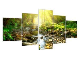 Obraz řeky v zeleném lese (V020942V150805PCS)