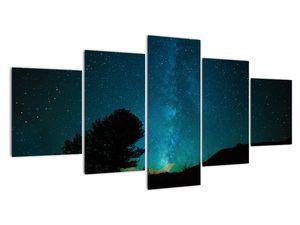 Obraz nočnej oblohy s hviezdami (V021100V150805PCS)