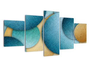 Tablou cu abstracție cercuri (V021137V150805PCS)