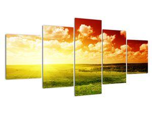 Obraz lúky so žiariacim slnkom (V021174V150805PCS)