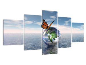 Obraz motýla na skleněné kouli (V021198V150805PCS)