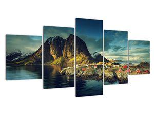 Obraz rybářské vesnice v Norsku (V021280V150805PCS)