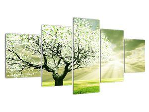 Slika drevesa na travniku (V021282V150805PCS)