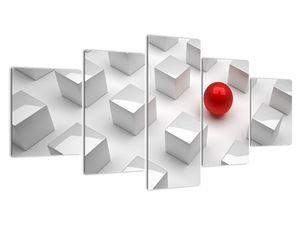 Tablou cu abstracție - cub cu bilă (V021296V150805PCS)