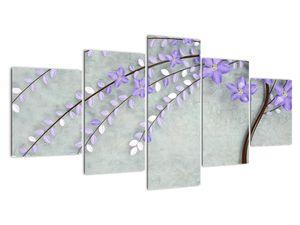 Obraz - Fialový déšť (V021302V150805PCS)