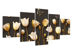 Obraz - Tulipány - abstraktné (V021347V150805PCS)