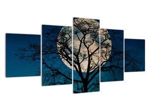 Obaz stromu s úplňkem (V021355V150805PCS)