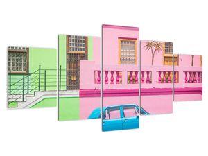 Obraz auta - barevné domy (V021582V150805PCS)