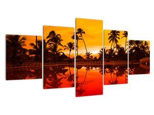 Kép - naplemente az üdülőhely felett (V021904V150805PCS)