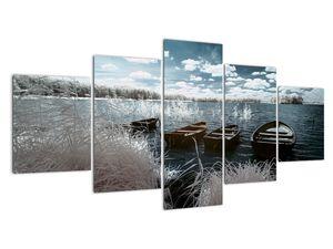 Obraz - Dřevěné loďky na jezeru (V021925V150805PCS)