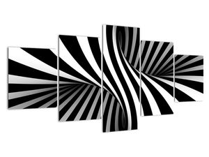 Tablou  abstract cu dungi de zebră (V021960V150805PCS)