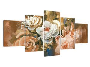 Tablou -Buchet de flori pictat (V022001V150805PCS)