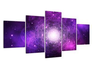 Obraz fialové abstrakcie (V022148V150805PCS)