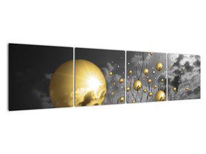 Okker gömbök képe (V020109V16040)