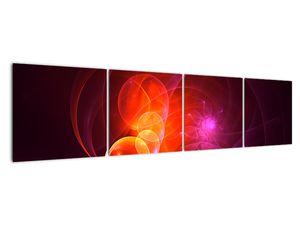 Moderní obraz růžové abstrakce (V020129V16040)