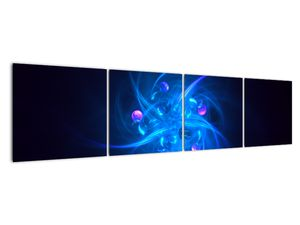 Moderní obraz modré abstrakce (V020137V16040)