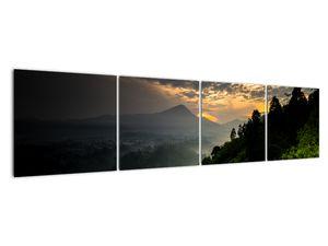 Obraz - zelená horská krajina (V020249V16040)