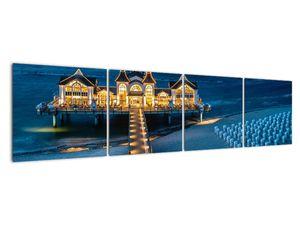 Tablou - hotel pe plajă (V020289V16040)