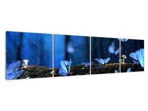 Obraz modrých motýlů (V020434V16040)