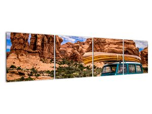 Obraz terenního auta v horách (V020603V16040)