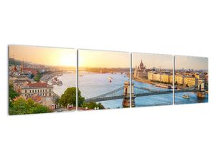 Obraz města Budapešť s řekou (V020712V16040)