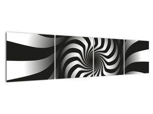 Abstraktní obraz černobílé spirály (V020831V16040)