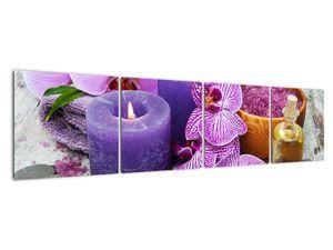 Obraz orchideí a svíček (V020894V16040)