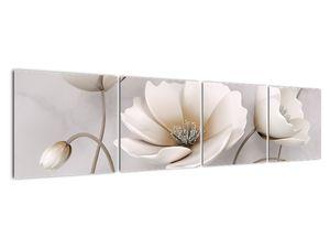 Obraz bílých květin (V020898V16040)
