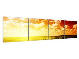 Obraz lúky so žiariacim slnkom (V021174V16040)