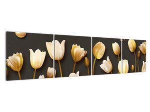 Obraz - Tulipány - abstraktné (V021347V16040)