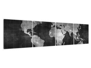 Obraz - Mapa světa (V021461V16040)