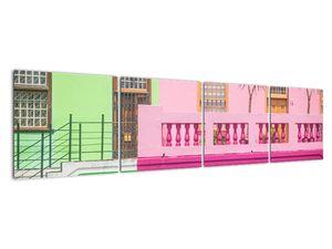 Obraz auta - barevné domy (V021582V16040)