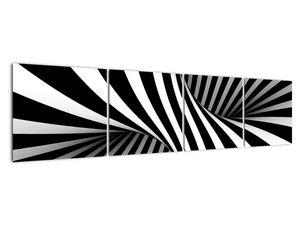 Absztrakt kép zebra csíkokkal (V021960V16040)