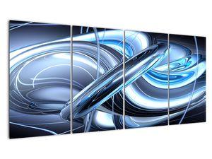 Tablou cu abstracție albastră (V020061V16080)