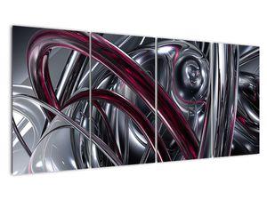 Tablou cu abstracție gri (V020094V16080)