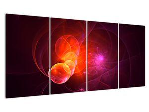 Moderní obraz růžové abstrakce (V020129V16080)
