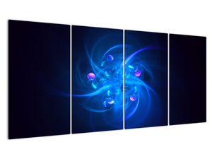 Moderní obraz modré abstrakce (V020137V16080)