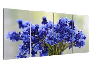 Obraz kytice modrých květů (V020175V16080)